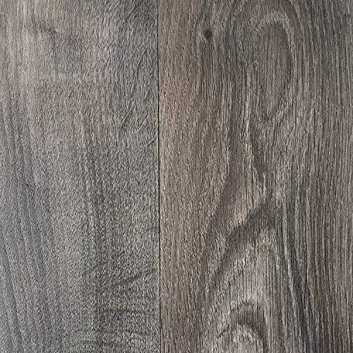 PVC Vinyl-Bodenbelag in rustikaler Holzoptik Schwarz/Anthrazit | Muster PVC-Belag | CV-Boden wird in benötigter Größe als Meterware geliefert | rutschhemmend