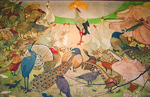2 Gerahmte Vogel-prints (Das Museum Outlet–Vögel–Leinwand Print Online kaufen (101,6x 127cm))