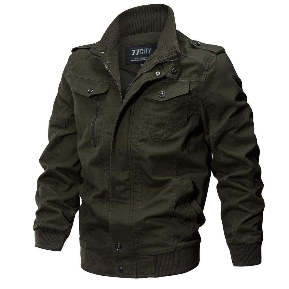 produits chauds Nouvelle liste frais frais AIMEE7 Blouson Homme Grande Taille Classique Veste en Coton Manches Longues  Manteau