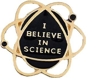 """Xingsd - Spilla in smalto con scritta """"I Believe in Science"""", per donne e ragazze"""