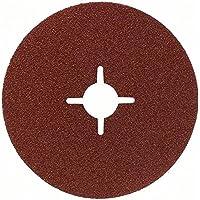 Bosch 2 608 605 467 - Disco lijador de fibra para amoladora angular, corindón - 115 mm, 22 mm, 80 (pack de 1)