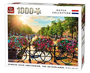 King 5721 Sunrise Over Amsterdam - Puzzle (68 x 49 cm, 1000 Piezas)