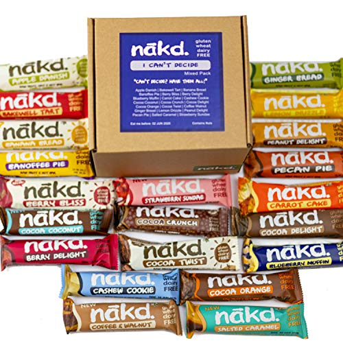 Nakd Bars - The 'I Can't Decide' Mixed Pack (24 Bars)