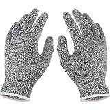Doubleer Safe Cut Resistant Handschuhe Schneiden Handschuhe für Küche Schneiden Fisch Filet Holzschnitzen für Männer Frauen Outdoor Arbeiten