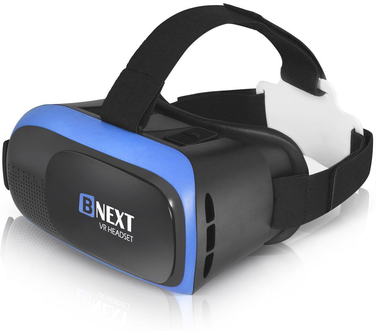 Casque Réalité Virtuelle, Casque VR pour iPhone & Android – Lancez Les Meilleures Applications/Jeux et Regardez Vos vidéos 3D & 360 avec Un Casque Doux, Confortable et réglable