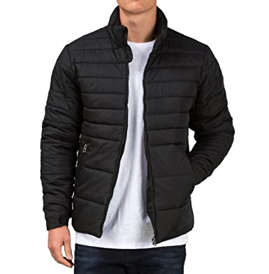 Fanideaz Branded Bomber Zipper Synthetic Black Quilted Jackets for ...
