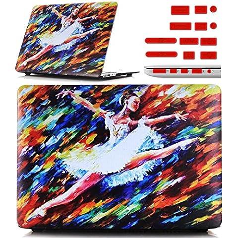 Macbook Retina 12 pollici Custodia Copertina - Ultra Slim Notebook Laptop Case Plastica Cover Rigida Duro Paraurti in Marmo Solido Modello Ragazza di Balletto Caso per Apple The New Macbook 12