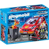 Playmobil 9235 City Action Firefighter with Car,MultiColor