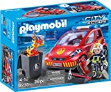 Playmobil Pompier avec véhicule d'intervention, 9235