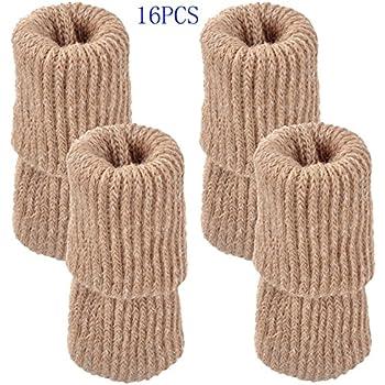 Mogoko Furniture Protectors   Chair Leg Floor Protectors,Covers For Chair  Legs (16 PCS, Beige)