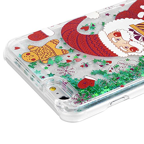 Mavis's Diary iPhone 6 6s(4,7 Zoll) Treibsand Grün Stern Case Hülle Rote Santa PC Hardcase Palstik Protective Dekoration Handycase Schutzhülle Back Cover Rück Scratch Telefon-Kasten Handyhülle Handyco Rote Santa