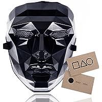 TK Gruppe Timo Klingler The Game Maske - + 1x Spielkarte für Halloween, Fasching & Karneval als Kostüm für Herren…