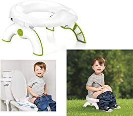 TOUA New Design Potty Seat for Todders Kids Travel 2 in 1 Go Potty Holder for Children's Kids Potty Training Toilet Seat (White)