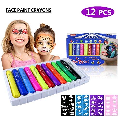 Philonext Gesicht Malen Buntstifte, Kinderschminke Set, ungiftig Körperbemalung -