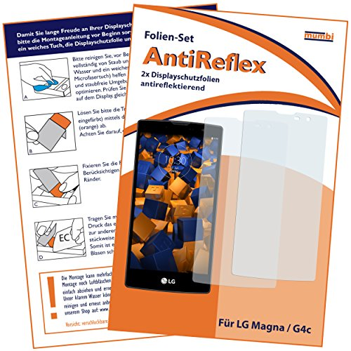 2 x mumbi Displayschutzfolie LG Magna / G4C Schutzfolie AntiReflex matt
