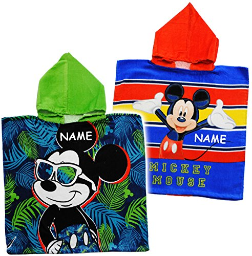 alles-meine.de GmbH 1 Stück _ Badeponcho / Kapuzenhandtuch -  Disney Mickey Mouse  - Incl. Name ..