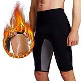 Martiount Pantaloncini Sauna per Uomo Body Shaper Pantaloncini Hot Sweat Shorts Pantaloni da Allenamento di Routine Pantaloni