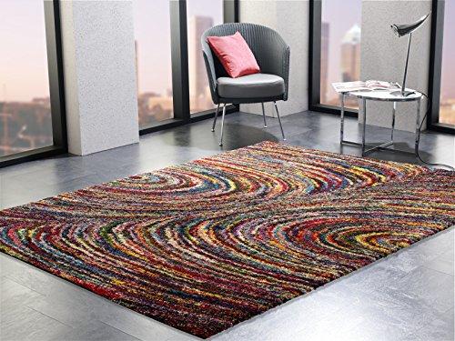 INTERSTELLAR DIAMOND Designer Hochflor Langflor Teppich in multicolor, Größe: 140x200 cm