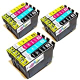 *TiToPaten®* 12 Druckerpatronen kompatibel zu Epson WorkForce WF-2630 WF in Schwarz, blau, rot und gelb