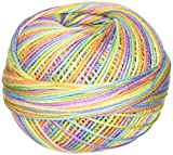 Handy Hands Lizbeth Cordonnet Cotton Size 3-Rainbow Taffy