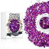 Vari colori Iridescent Cosmetic Glitter Sequin per il corpo del chiodo del viso, brillante trucco Glitter Paillette per il festival di musica Masquerade Halloween Party Ball di Natale - Y4