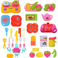 FI - FLICK IN Little Chef Cookware Pretend Play Kitchen Set Toy with Accessories for Kids and Girls (50 Pcs)