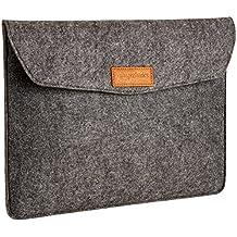 AmazonBasics - Funda de fieltro para portátil de 13 pulgadas, color gris oscuro