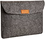 AmazonBasics 13-Inch Felt Laptop Sleeve - Charcoal  Your Mac/PC goes where you go. Now it can travel in sleek, protected style with this AmazonBasics 13-inch felt laptop sleeve. Designed for 13-inch laptops including MacBook Pro Retina...