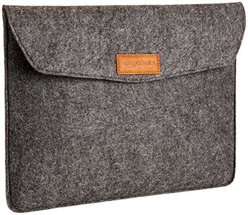 AmazonBasics - Custodia a guaina in feltro, per laptop 13 Pollici (33 cm), colore: carbone