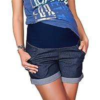 9037 - Jeans corti premaman con fascia addominale
