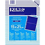 kenro Classeur à Pages, chaque Page contenir 4 Noir 15 x 21 cm, impressions de photos