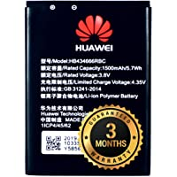 The Black Store Orignal HB434666RBC Battery for Huawei Airtel Vodafone Router 4G Hotspot Battery (1500mAh) with 3 Months…