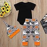 OverDose Damen Halloween Cool Style Infant Baby Mädchen Jungen Brief Drucken Nette Spielanzugoverall Halloween Cosplay Hosen Outfits Set Test