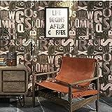 Retro wallpaper,3d nostalgia inglese lettera sticker da parete per barbiere ristorante bar stile industriale abbigliamento wallpaper-G