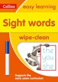 Sight Words Age 3-5 Wipe Clean Activity Book: Prepare for Preschool with easy home learning (Collins Easy Learning Preschool)