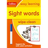 Sight Words Age 3-5 Wipe Clean Activity Book: Ideal for home learning (Collins Easy Learning Preschool)
