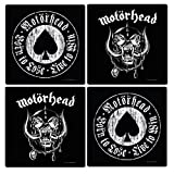 Motörhead - Rock Band Untersetzer Coaster 4er Set - Ace of Spades + Logo