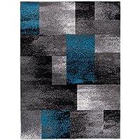 Designer Teppich Für Ihre Wohnzimmer Esszimmer   Grau Schwarz Blau   Teppich  In Moderner Ausgabe