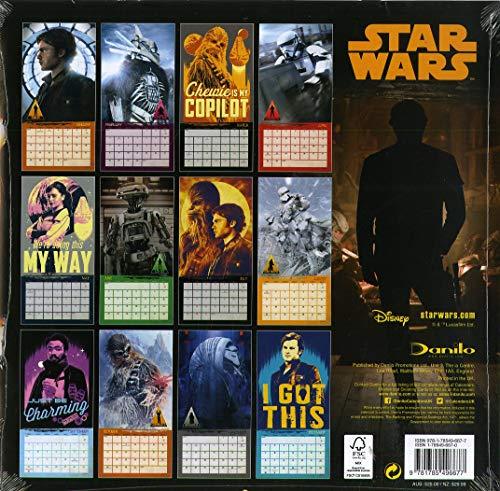 Star Wars: Hans Solo Official 2019 Calendar - Square Wall Calendar Format