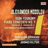 Iron foundry opus 19, Concerto pour piano no. 1- Alexander Mosolov