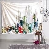 HANSHI Wandteppich Kakteengewächse Wald Mond Tropischer Wandteppich Schöne Dekoration für Ihr Zimmer 4 verschiedene Farben zu wählen HYC05 (Kakteengewächse)