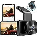 AUTOWOEL Camara para Coche Dash CAM 1080P FHD Doble con WiFi GPS, Dashcam Cámara Delantera y Trasera de Coche Grabadora, Mini