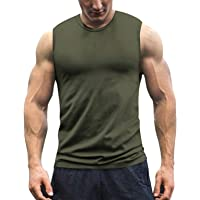 COOFANDY Mens Gym T Shirts Sleeveless Bodybuilding Vest Gym Muscle Sports Tank Top