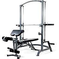 Système Olympique Marcy SM1050 – Appareil de musculation à charge guidée – Rack à Squat & Banc de musculation complet