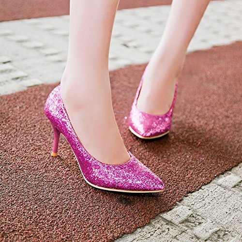 Mee Shoes Damen Stiletto Pailleten Geschlossen Pumps Lila