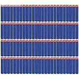 Dart Refill, 100 Universele Pijlen/Darts/Kogels geschikt voor NERF N-Strike Elite speelgoedblasters, zachte ronde hoofd schuim kogels , 7.2cm, Kleur Blauw