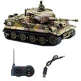 RC Tank Mini réservoir de télécommande avec câble de Chargeur USB 1:72 Tigre Allemand I avec Cadeau sonore pour Enfants garço