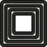 Marianne Design Fustelle Craftables Passe Partout Base Quadrato, Metal, Grey, 10x10x0.3 cm