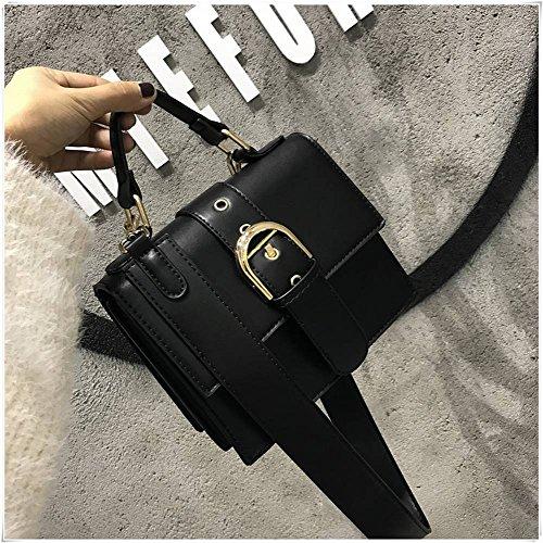 Einfache und Wilde Breite Schulterriemen Stil Gitarre Tasche Schulter Umhängetasche Handtasche Mode Handtaschen , schwarz (Stil Schulter Handtasche)