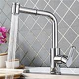 Homelody 360° drehbar Wasserhahn Küche ausziehbar Küchenarmatur Spültischarmatur Spüle Einhebelmischer Mischbatterie Spülbecken Armatur